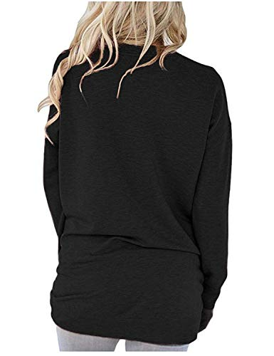 Akihoo Women Casual Loose Fit Tunic Top Baggy Comfy Graphic Blouse with Pockets